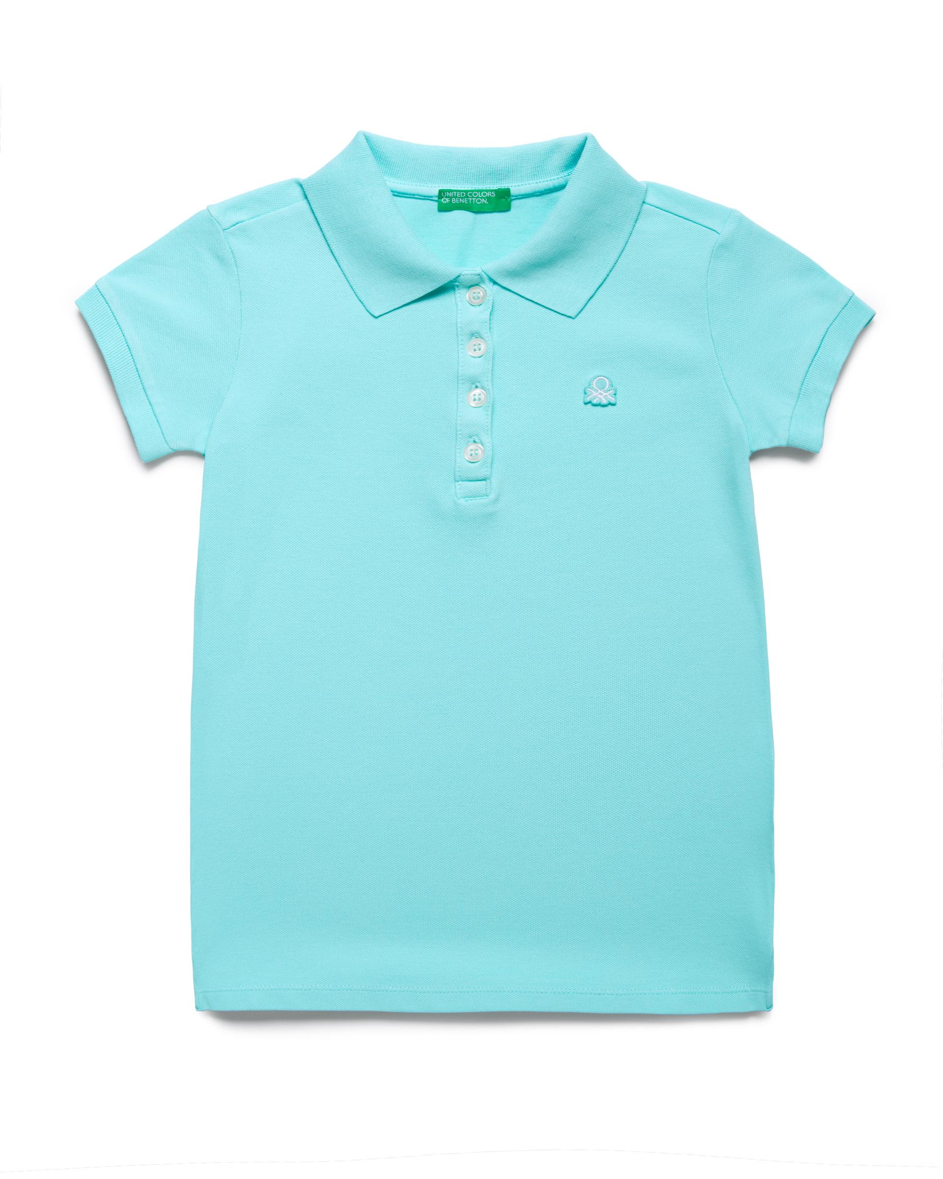 Купить 20P_3WG9C3092_0Z8, Поло-пике для девочек Benetton 3WG9C3092_0Z8 р-р 128, United Colors of Benetton, Детские футболки