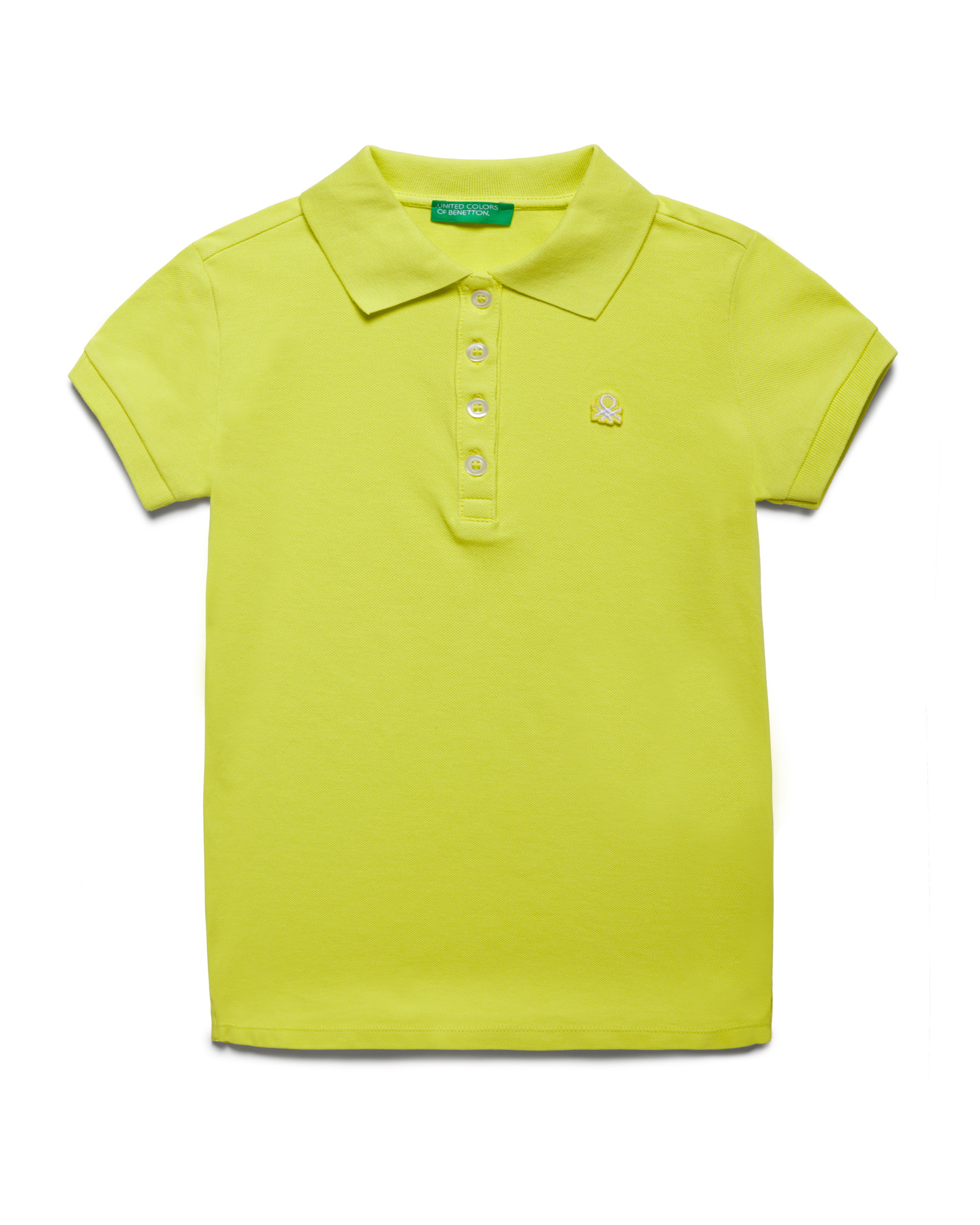 Купить 20P_3WG9C3092_28M, Поло-пике для девочек Benetton 3WG9C3092_28M р-р 128, United Colors of Benetton, Детские футболки