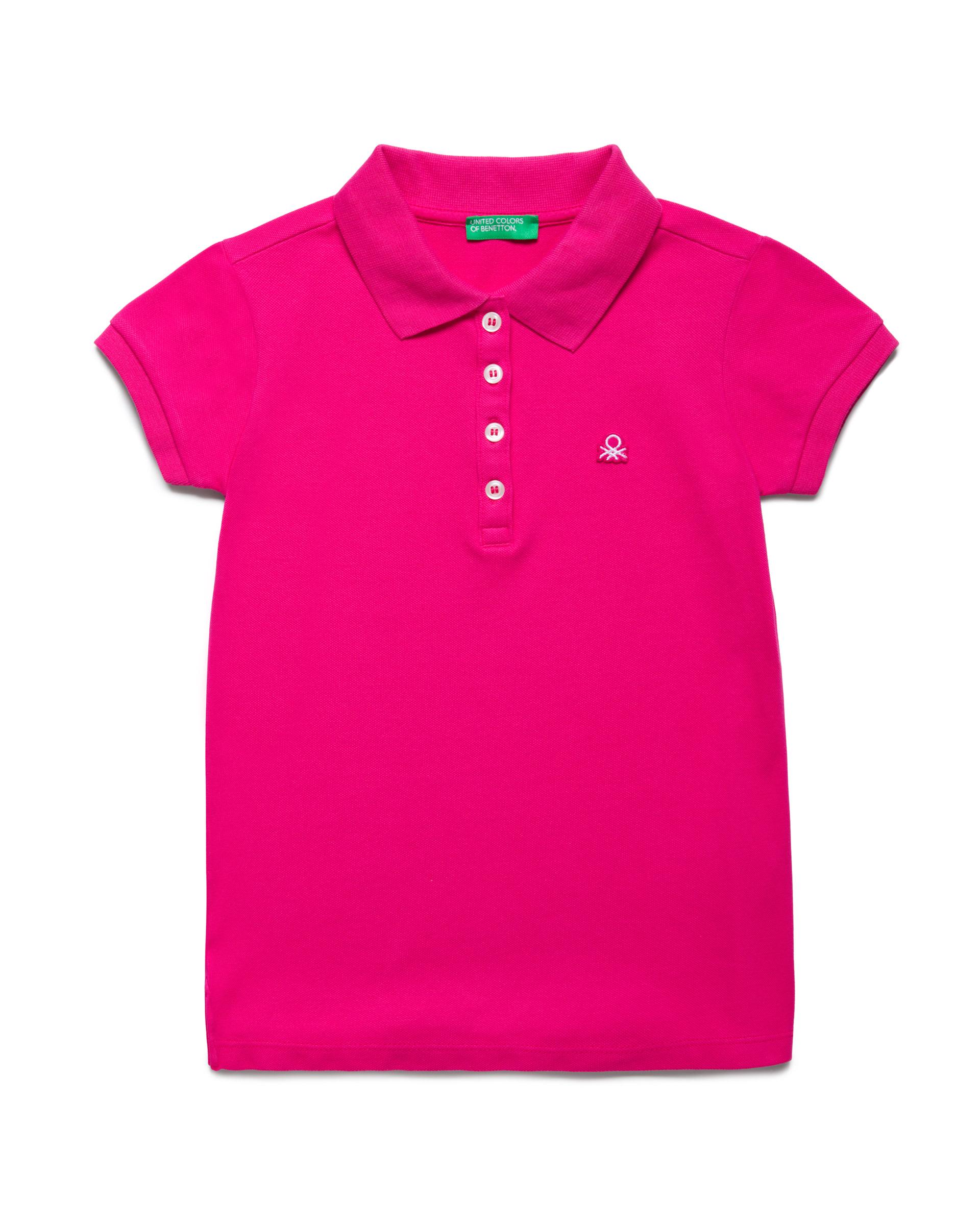 Купить 20P_3WG9C3092_2L3, Поло-пике для девочек Benetton 3WG9C3092_2L3 р-р 122, United Colors of Benetton, Детские футболки