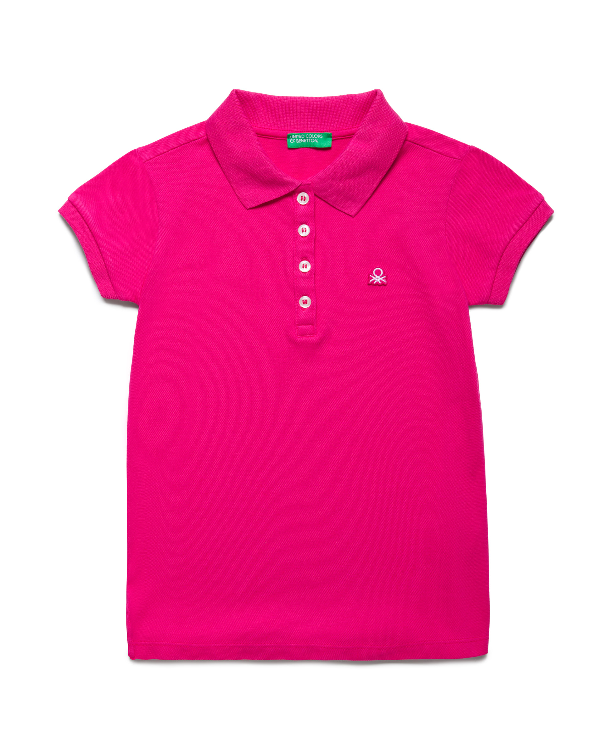 Купить 20P_3WG9C3092_2L3, Поло-пике для девочек Benetton 3WG9C3092_2L3 р-р 128, United Colors of Benetton, Детские футболки