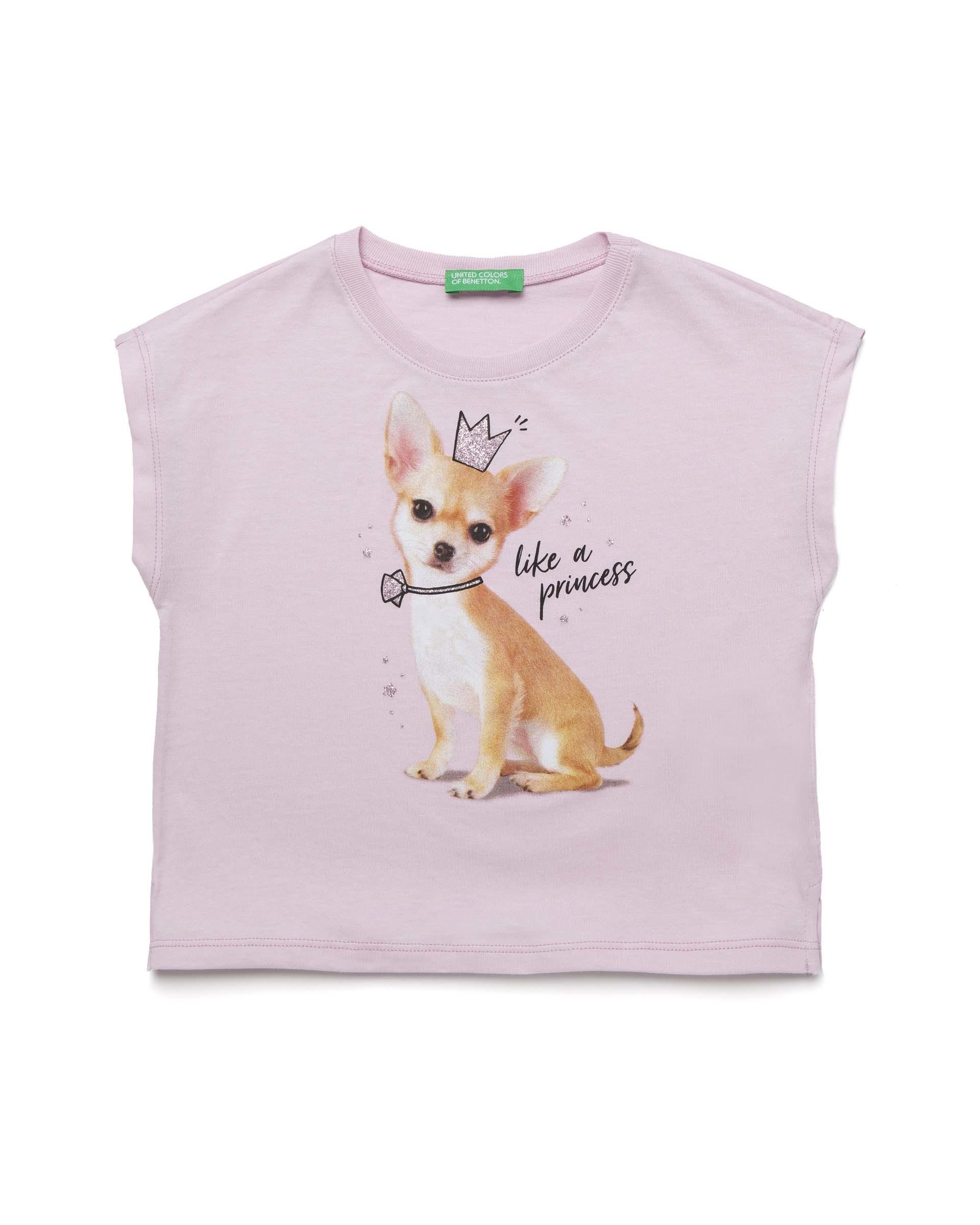 Купить 20P_3096C14LU_07M, Футболка для девочек Benetton 3096C14LU_07M р-р 80, United Colors of Benetton, Кофточки, футболки для новорожденных