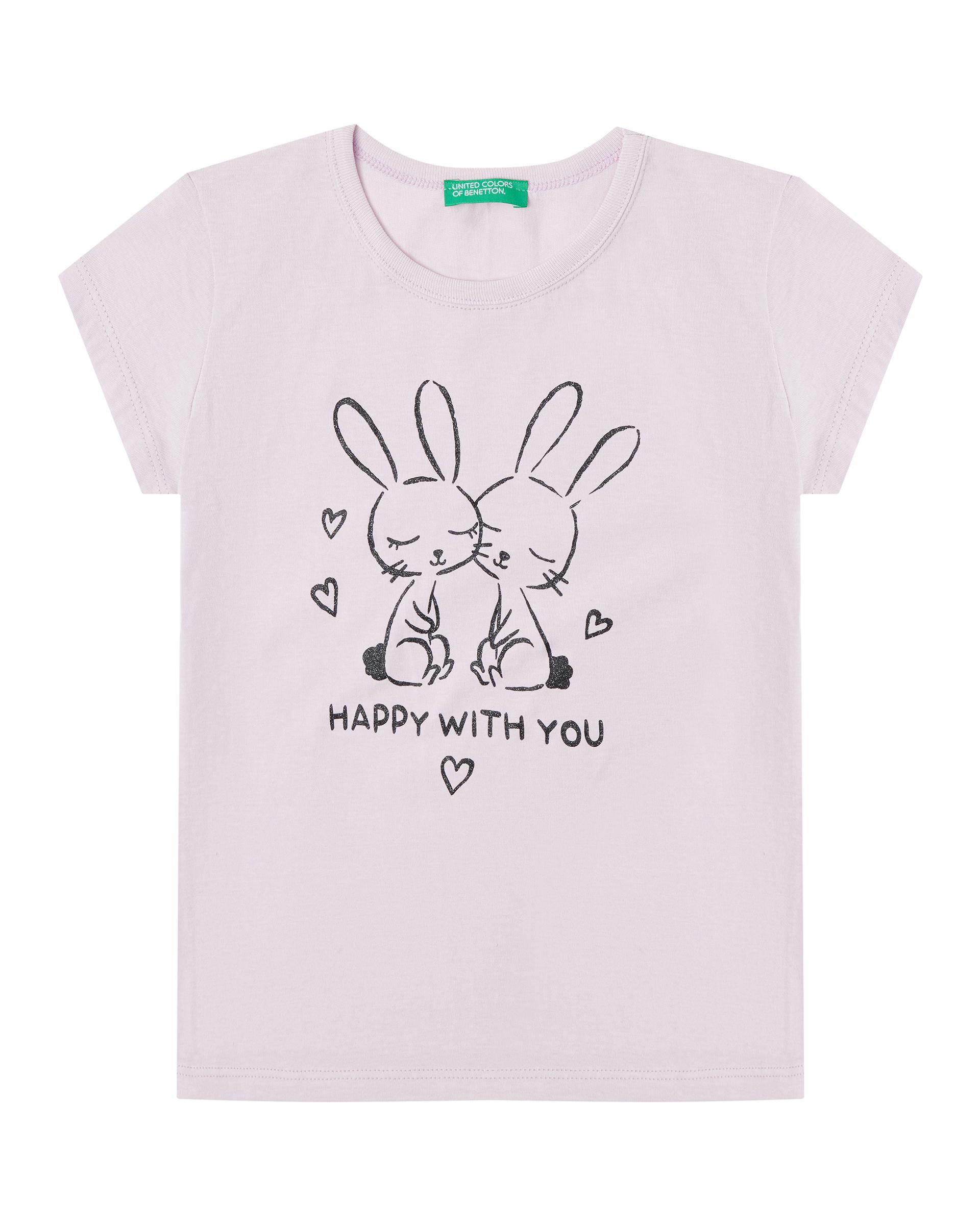 Купить 20P_3096C1AZP_07M, Футболка для девочек Benetton 3096C1AZP_07M р-р 92, United Colors of Benetton, Кофточки, футболки для новорожденных