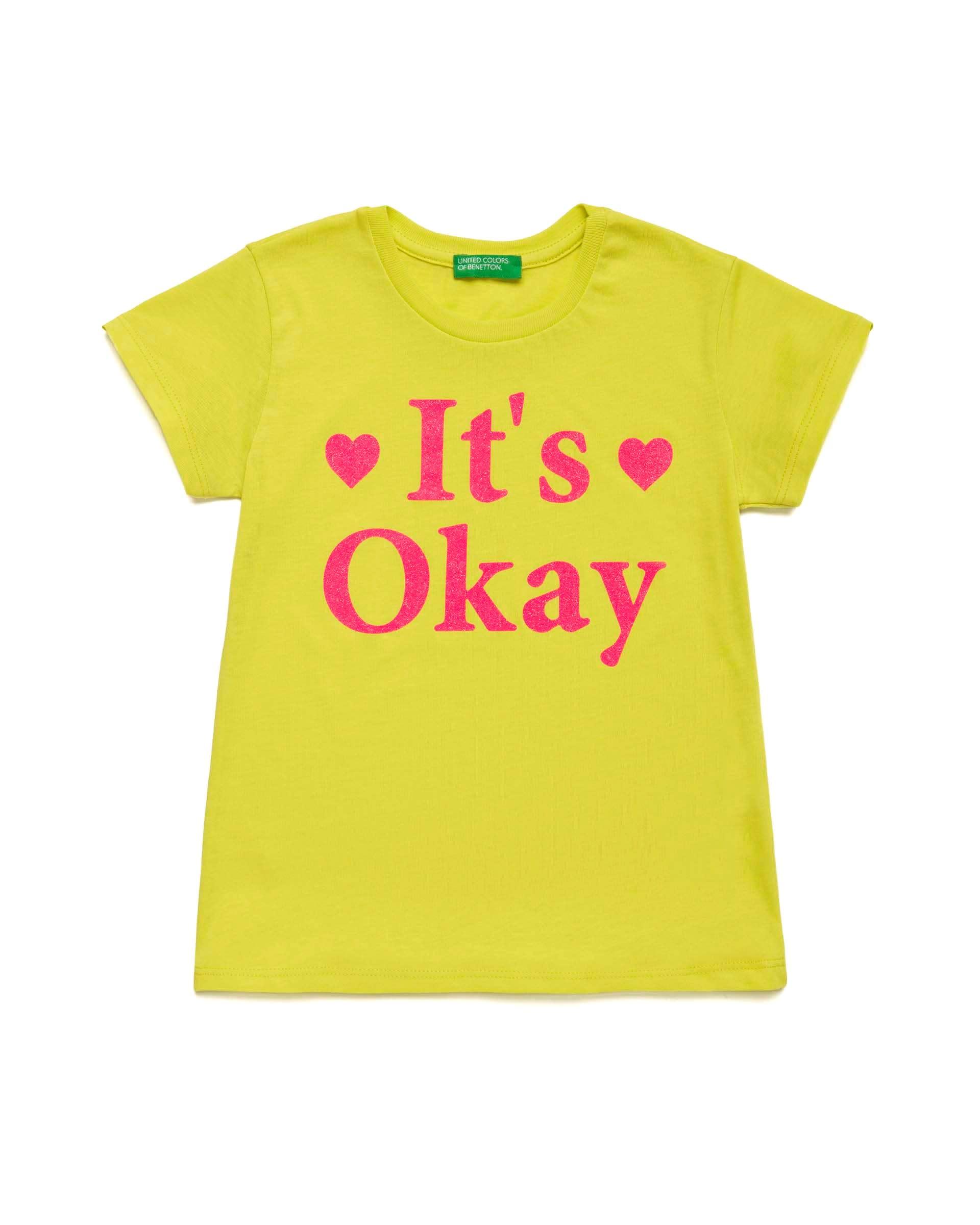 Купить 20P_3I1XC14KM_28M, Футболка для девочек Benetton 3I1XC14KM_28M р-р 122, United Colors of Benetton, Футболки для девочек