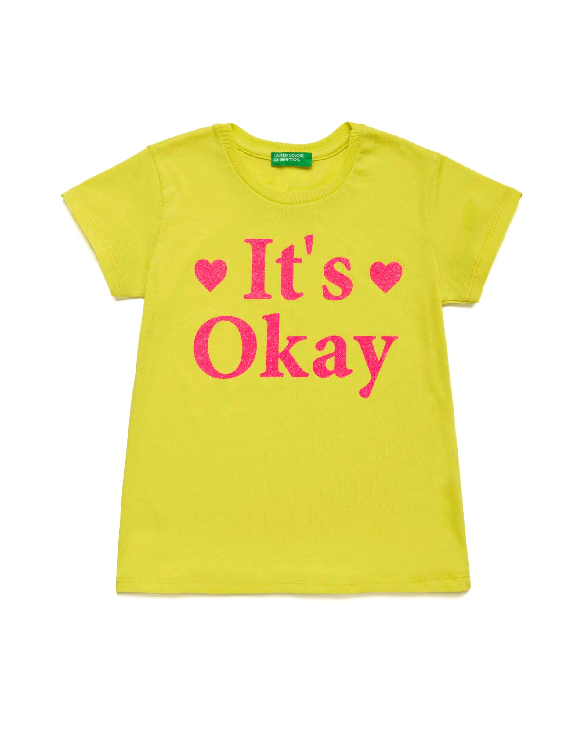 Купить 20P_3I1XC14KM_28M, Футболка для девочек Benetton 3I1XC14KM_28M р-р 152, United Colors of Benetton, Футболки для девочек