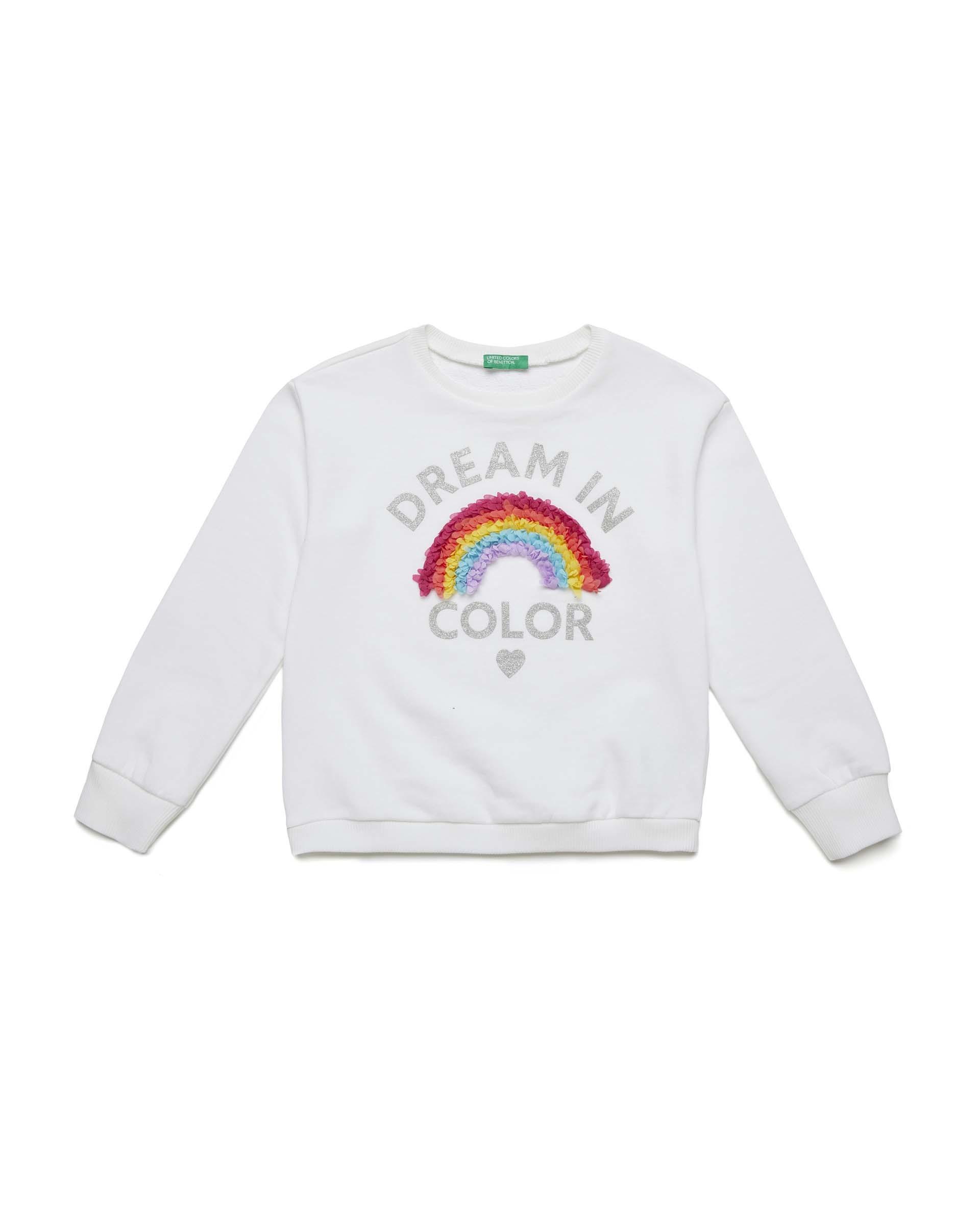 Купить 20P_3J68C14L2_101, Толстовка для девочек Benetton 3J68C14L2_101 р-р 140, United Colors of Benetton, Толстовки для девочек