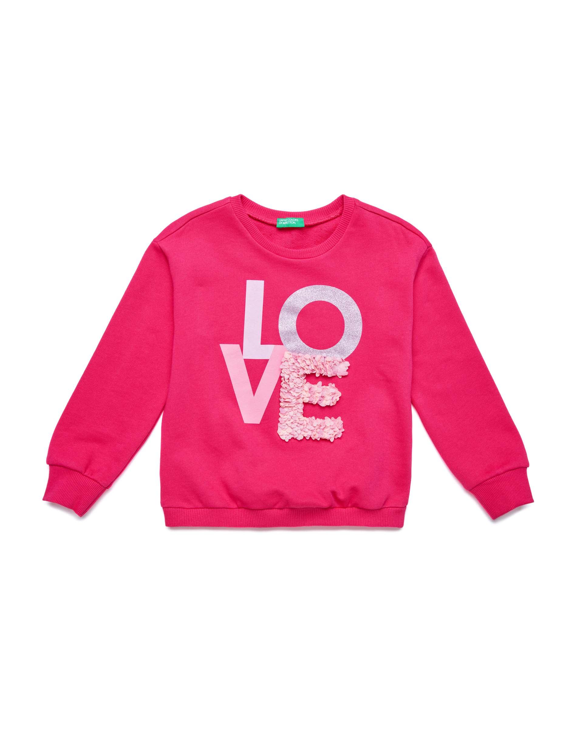 Купить 20P_3J68C14L2_2L3, Толстовка для девочек Benetton 3J68C14L2_2L3 р-р 128, United Colors of Benetton, Толстовки для девочек