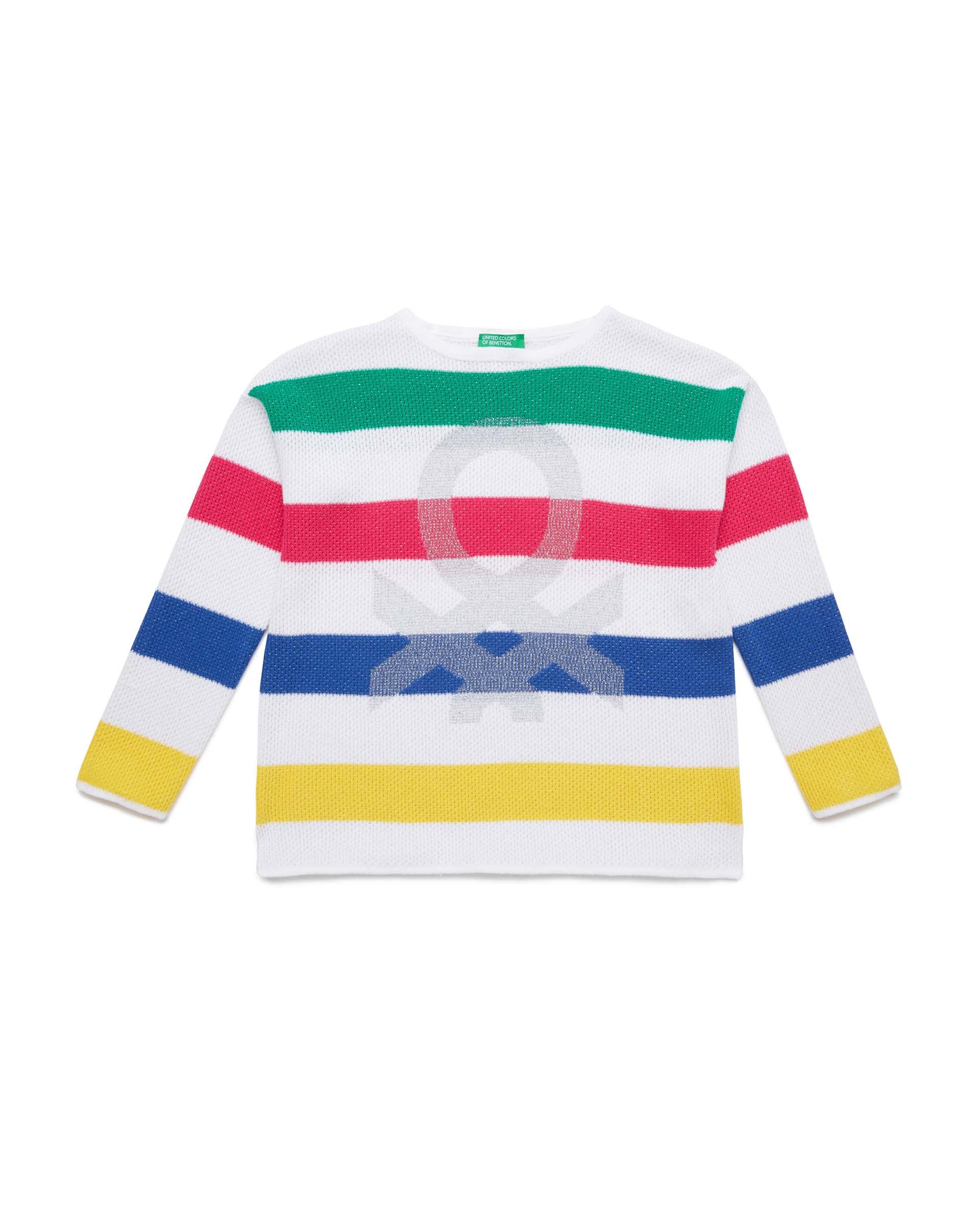 Купить 20P_1194Q1891_901, Джемпер для девочек Benetton 1194Q1891_901 р-р 110, United Colors of Benetton, Джемперы для девочек