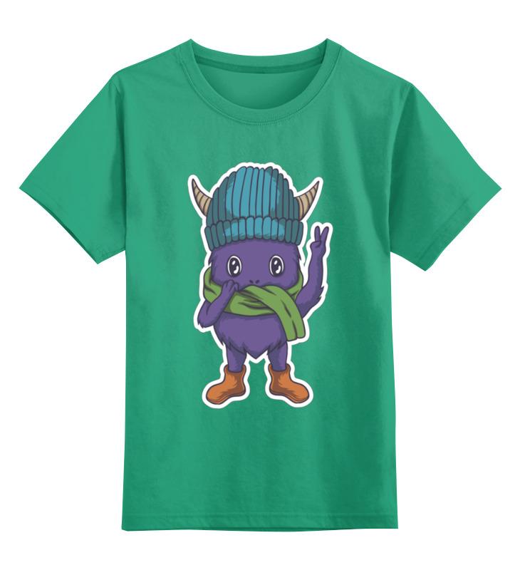 Купить 0000003458965, Детская футболка Printio Зомбяшка цв.зеленый р.104,