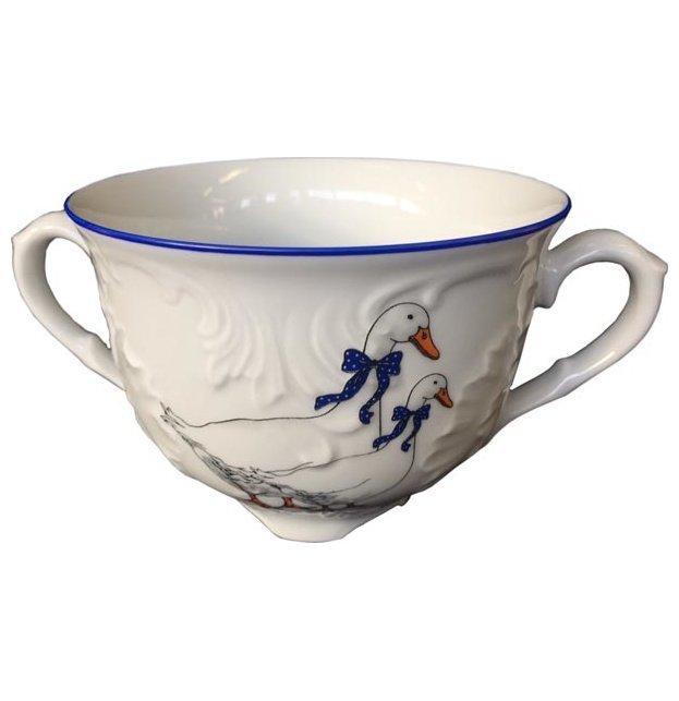 Бульонная чашка 330 мл Рококо Гуси Cmielow
