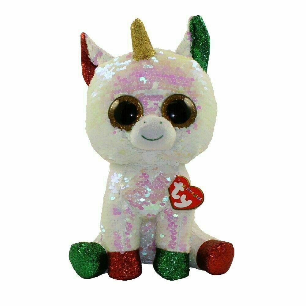 Купить Мягкая игрушка TY Inc. Рождественский единорог с пайетками, 25 см,