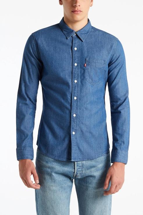 Рубашка мужская Levi's 8661900320 синяя 52