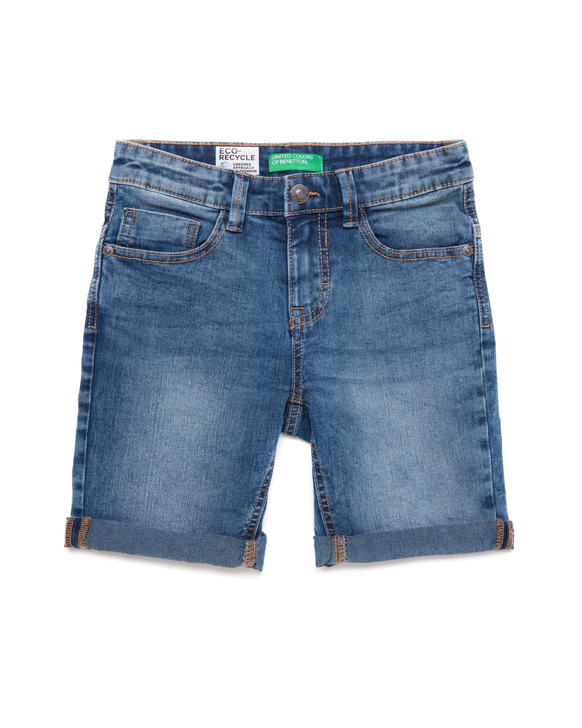 Купить 20P_4XA259DY0_902, Джинсовые шорты для мальчиков Benetton 4XA259DY0_902 р-р 128, United Colors of Benetton, Шорты для мальчиков