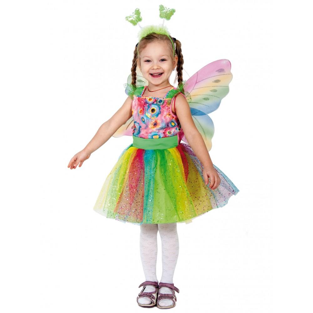 Карнавальный костюм Карнавалофф Бабочка, цв. разноцветный р.92