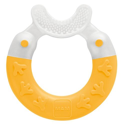 Купить Прорезыватель для зубов MAM Bite & Brush цв. желтый 3м+,