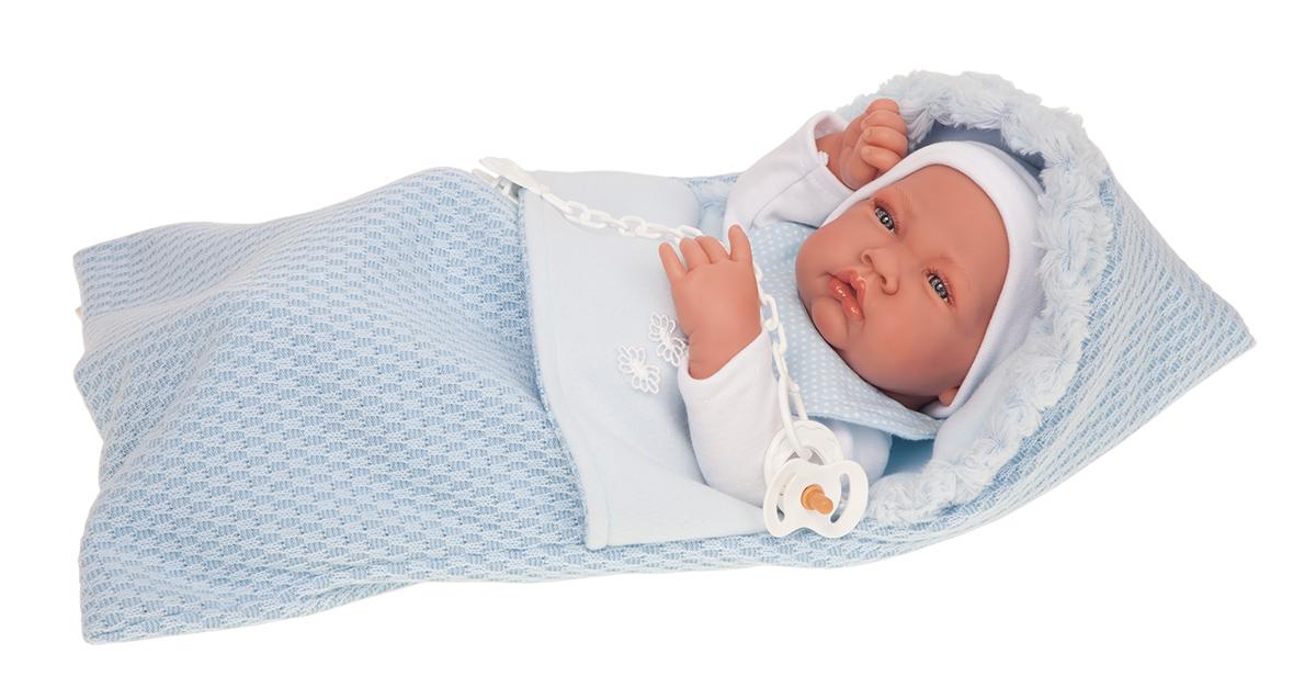 Кукла-младенец Нестор в голубом, 42 см
