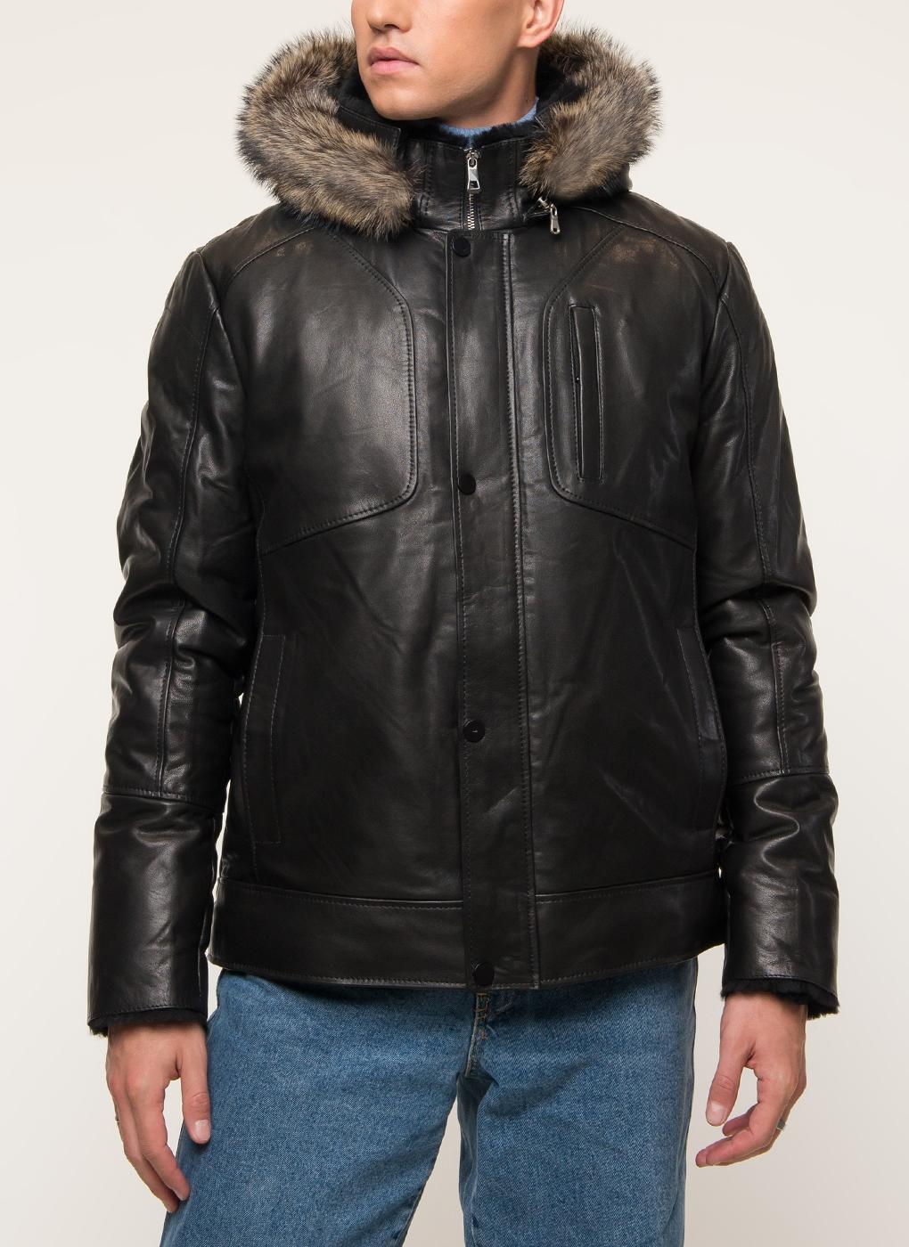 Дубленка мужская Ennur 42465 черная 56 RU