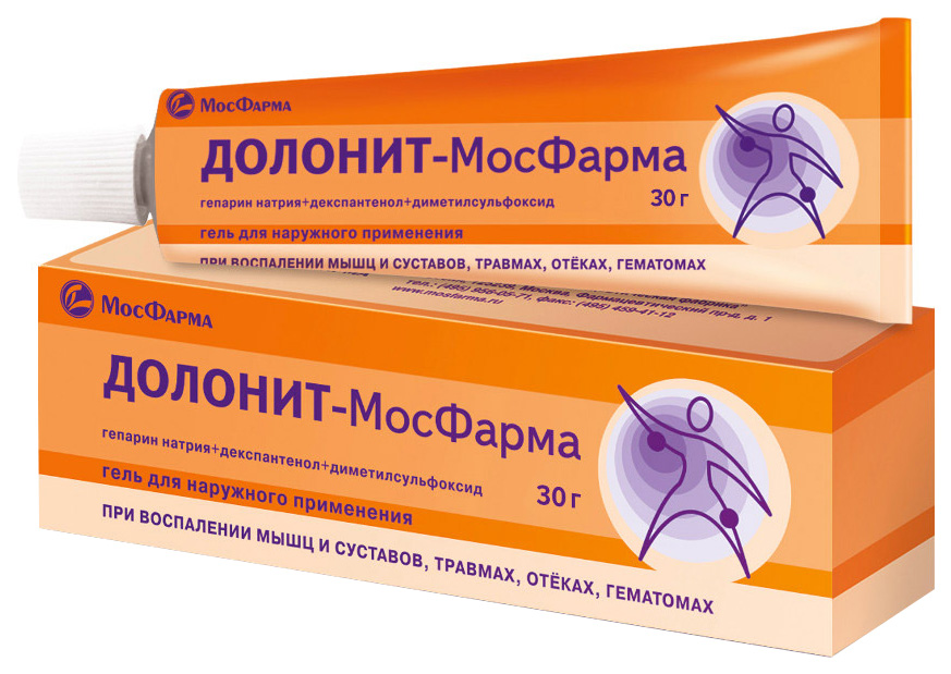 Долонит-МосФарма гель для наружн.прим.30 г туба №1