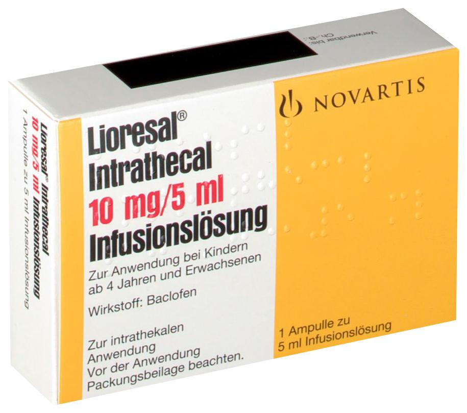 Лиорезал Интратекальный раствор для интратек.введ.2 мг/мл амп.5