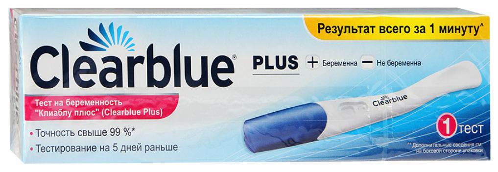 Тест на беременность Clearblue плюс 1 шт.
