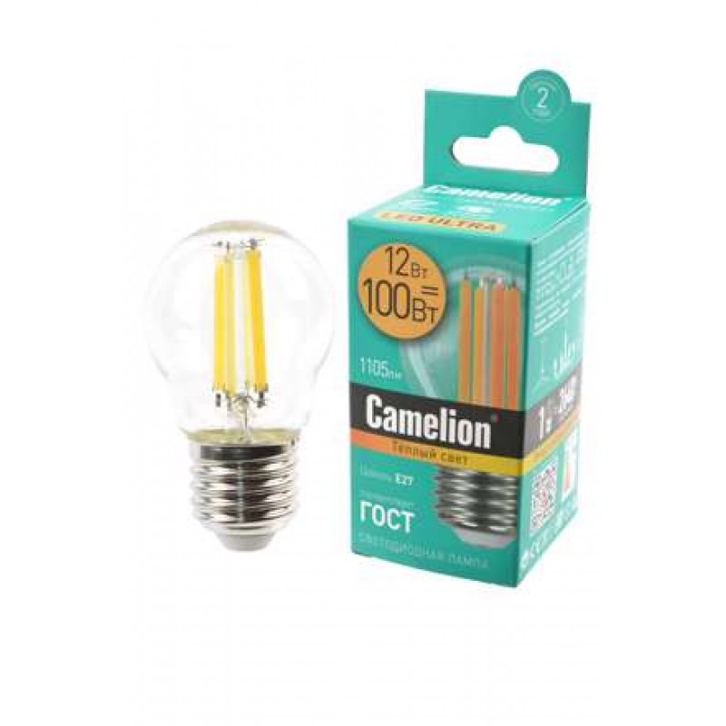 Лампа Camelion LED12-G45-FL/830/E27