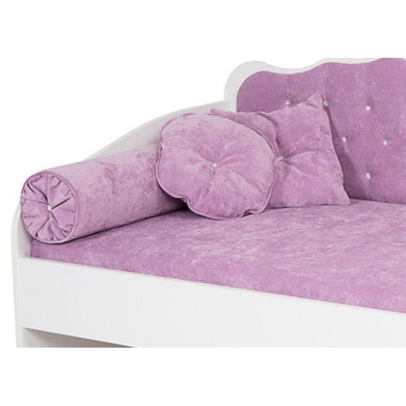Подушки к дивану ABC-KING: Комплект: 2 валика, 2 квадр.подушки, 2 круглые подушки