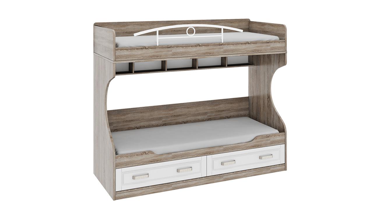Двухъярусная кровать (без лестницы) Трия «Прованс»