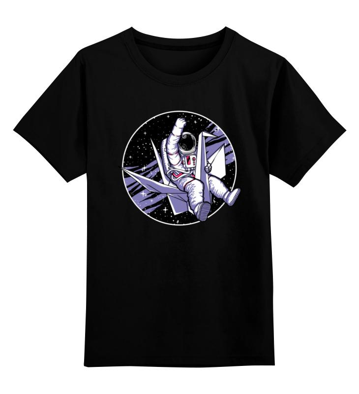 Купить 0000003420083, Детская футболка Printio В космосе цв.черный р.152,