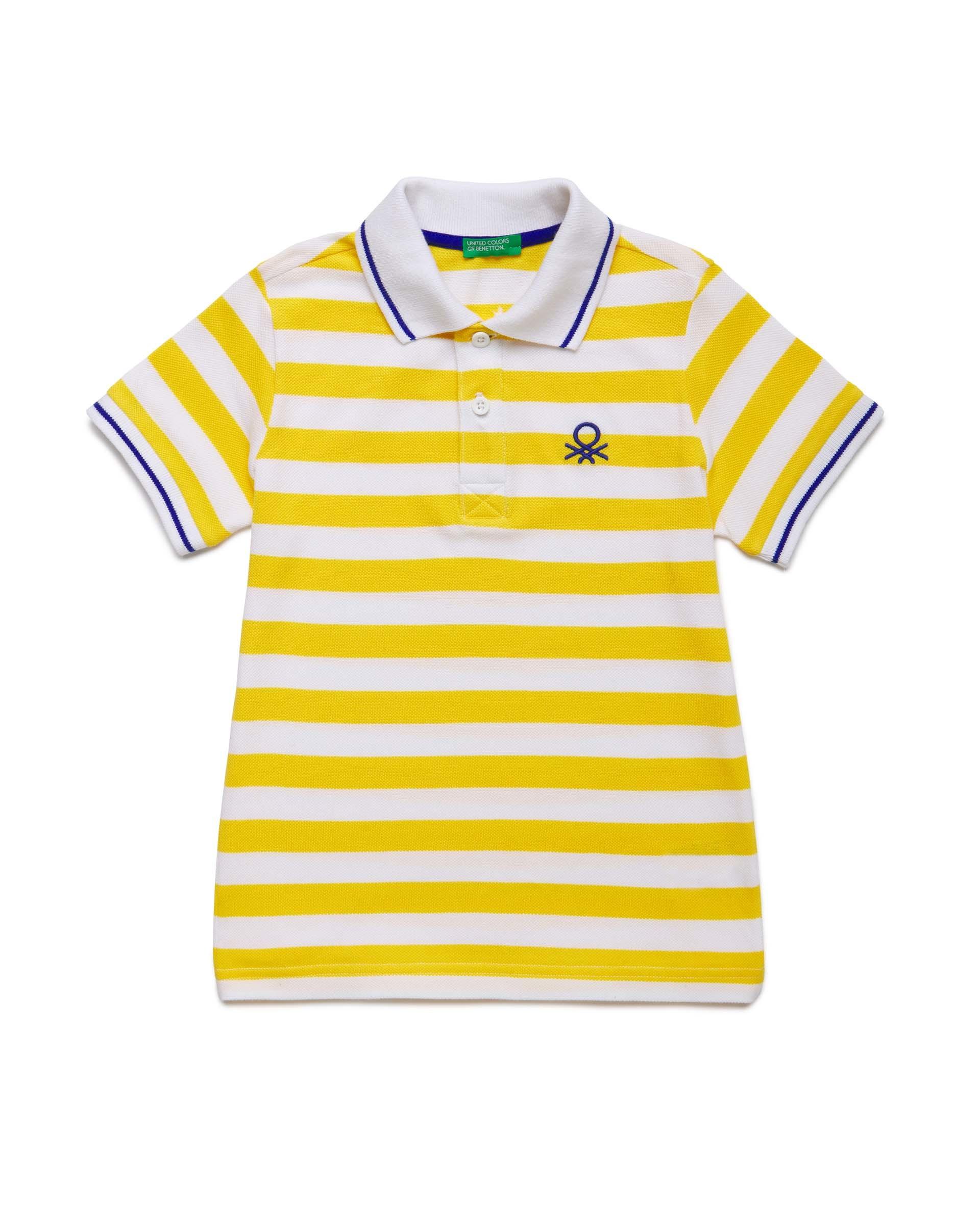 Купить 20P_3NQ7C3124_902, Поло-пике для мальчиков Benetton 3NQ7C3124_902 р-р 128, United Colors of Benetton, Футболки для мальчиков
