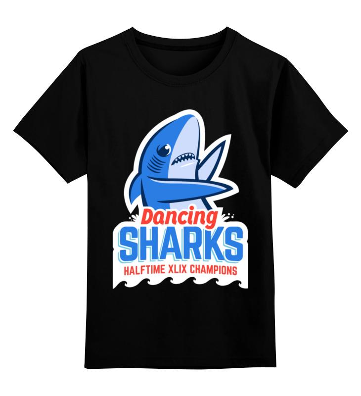 Детская футболка Printio Акула цв.черный р.152 0000003431397 по цене 990