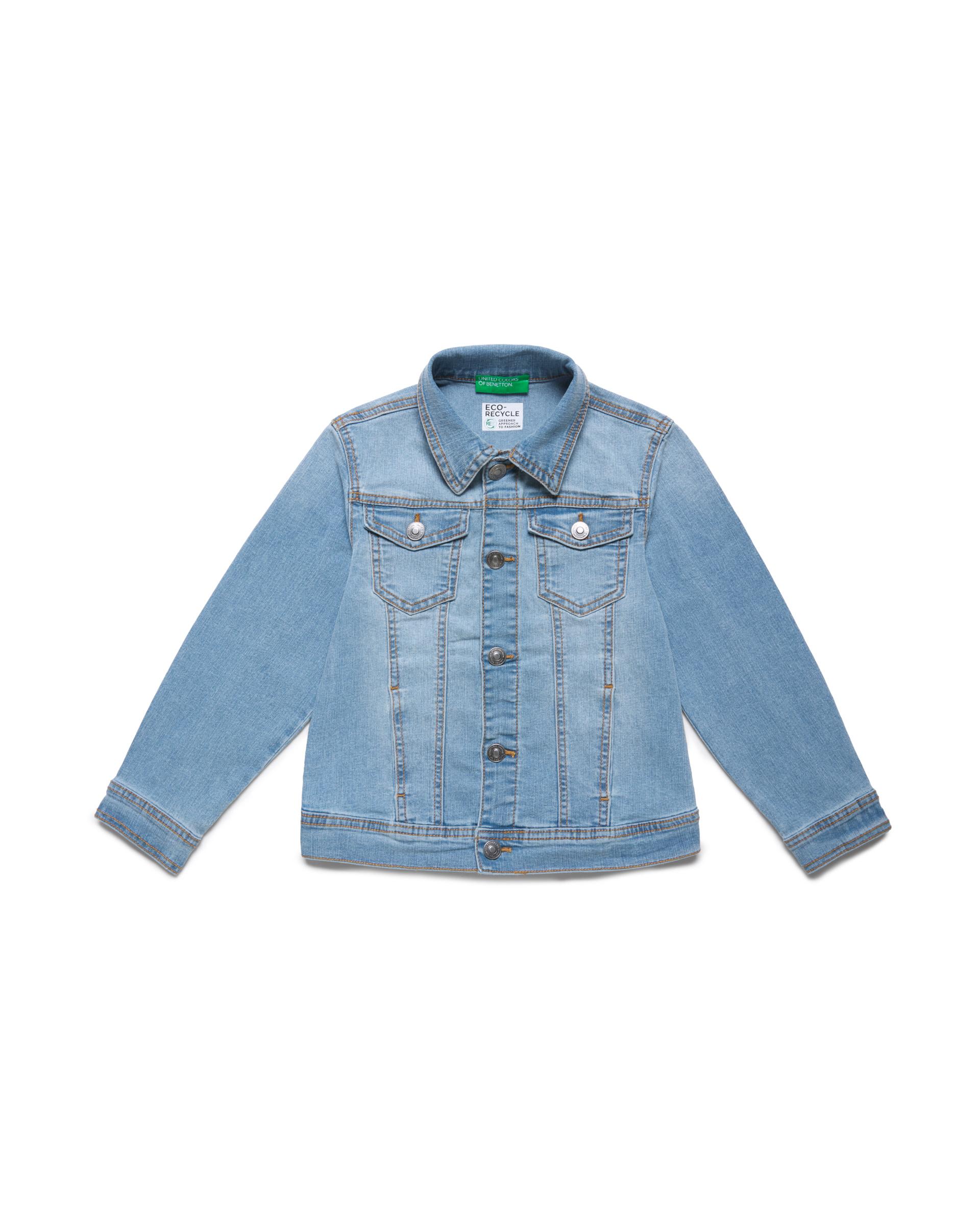Купить 20P_2XA253HM0_902, Джинсовая куртка для мальчиков Benetton 2XA253HM0_902 р-р 128, United Colors of Benetton, Куртки для мальчиков