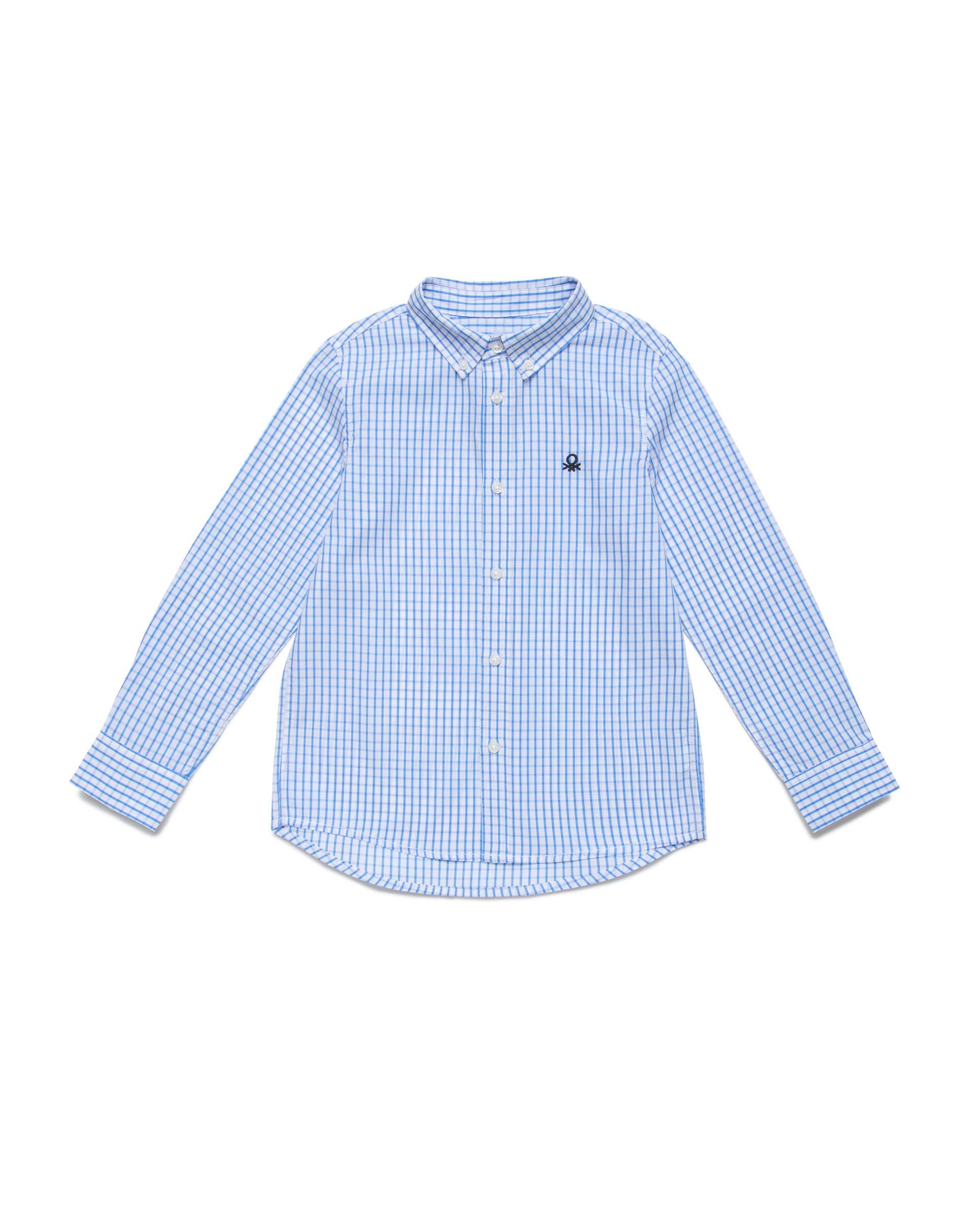 Купить 20P_5DU65QG40_902, Рубашка для мальчиков Benetton 5DU65QG40_902 р-р 122, United Colors of Benetton, Рубашки для мальчиков