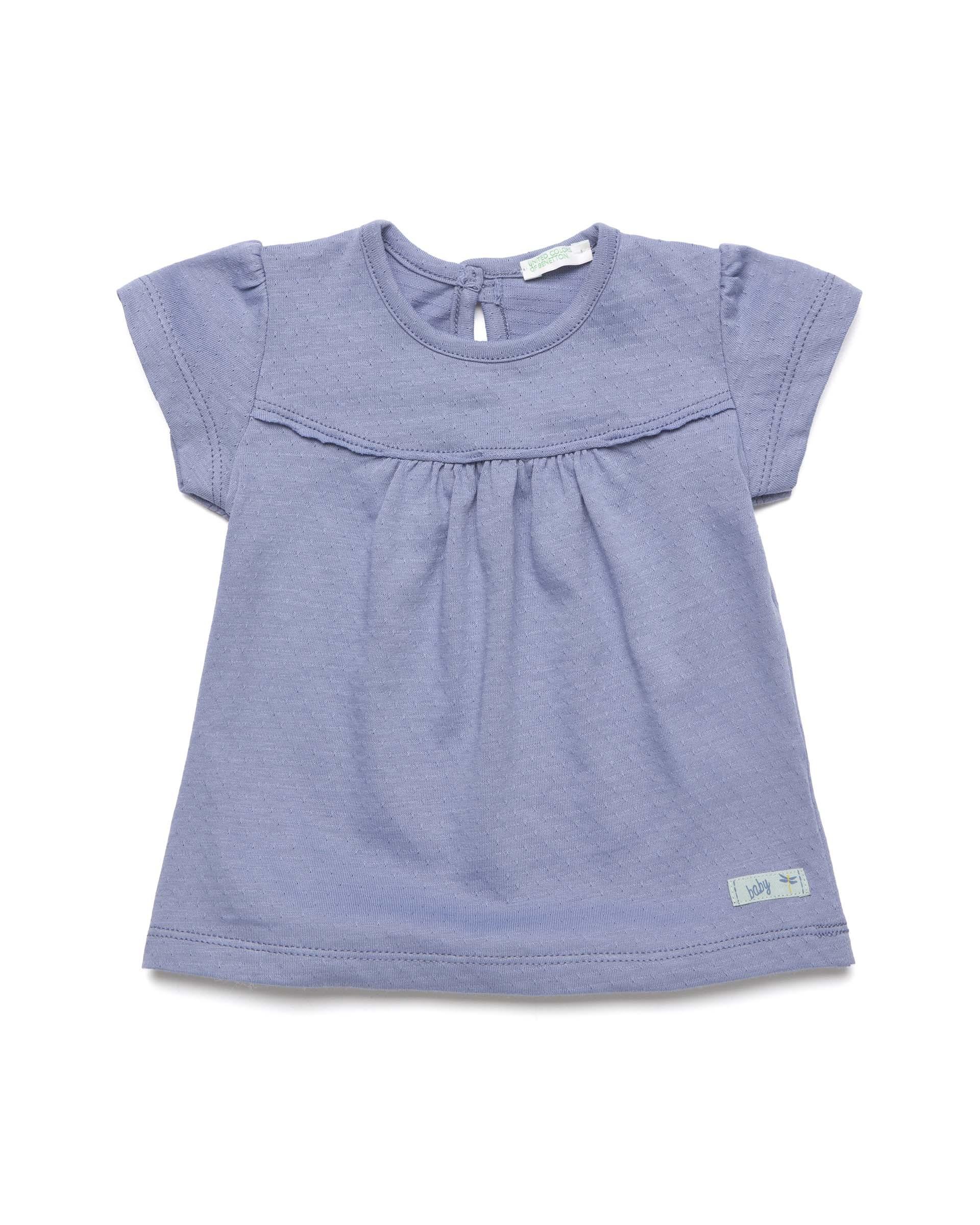 Купить 20P_3A1AMM25X_096, Футболка для девочек Benetton 3A1AMM25X_096 р-р 74, United Colors of Benetton, Кофточки, футболки для новорожденных