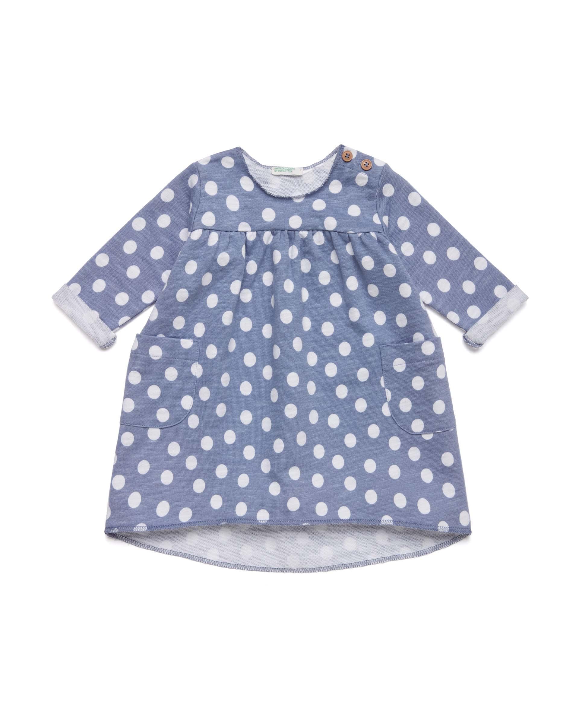 Купить 20P_3OM6MV062_61P, Платье для девочек Benetton 3OM6MV062_61P р-р 82, United Colors of Benetton, Платья для новорожденных