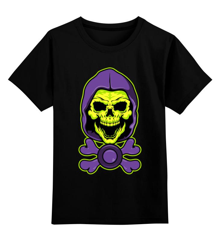 Детская футболка Printio Скелетон цв.черный р.140 0000003490572 по цене 990