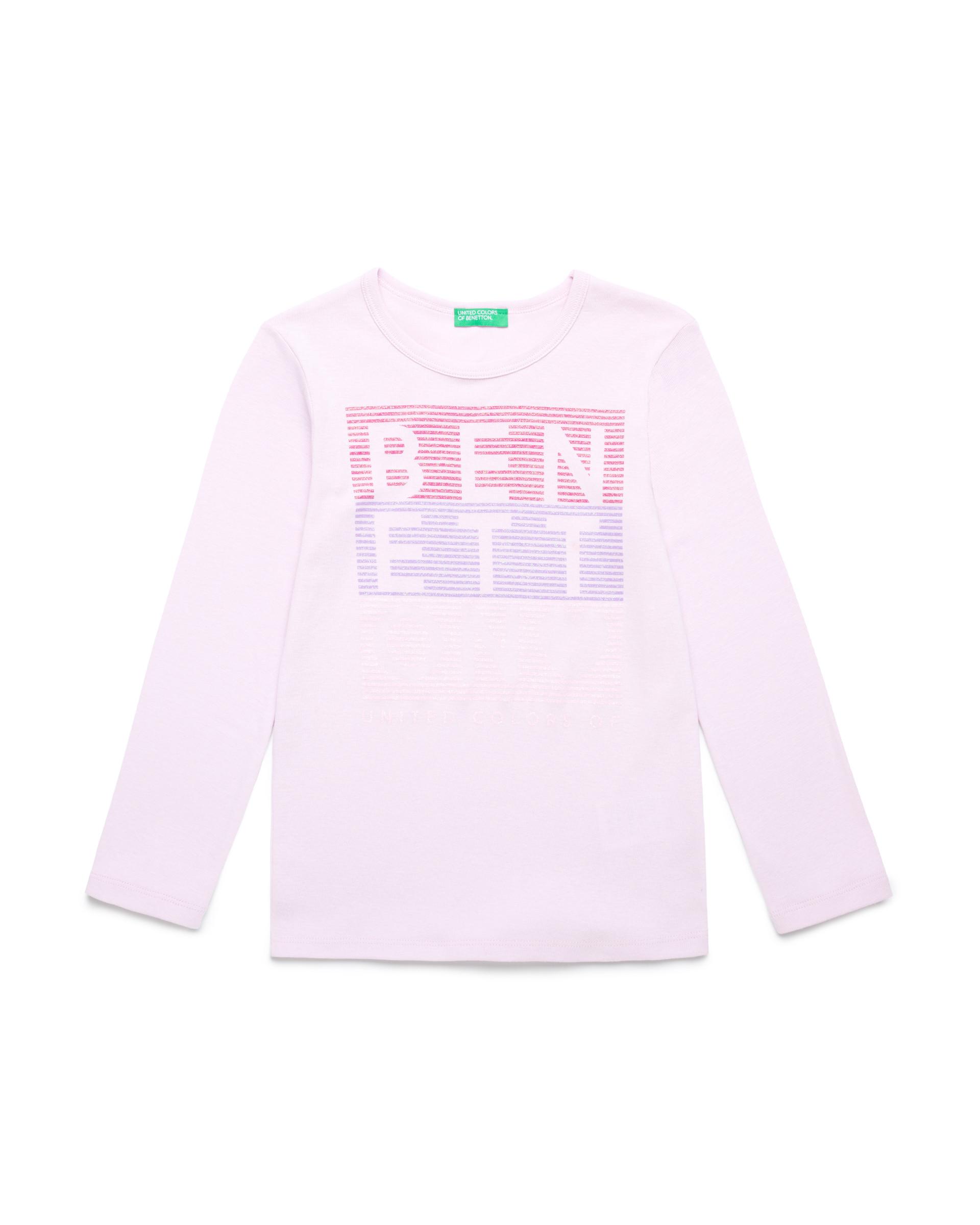 Купить 20P_3I9WC14J3_07M, Футболка для девочек Benetton 3I9WC14J3_07M р-р 80, United Colors of Benetton, Кофточки, футболки для новорожденных