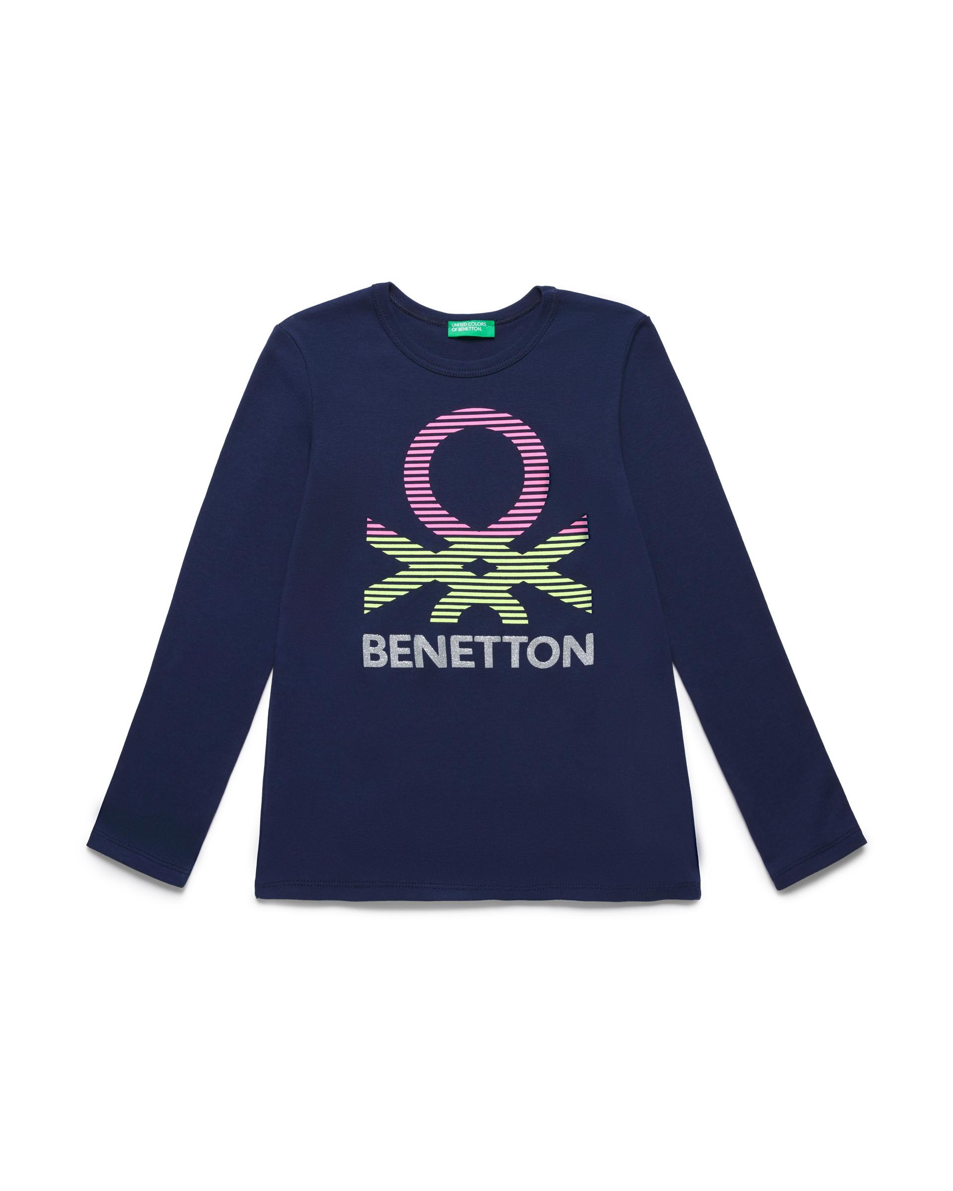 Купить 20P_3I9WC14J3_252, Футболка для девочек Benetton 3I9WC14J3_252 р-р 128, United Colors of Benetton, Футболки для девочек