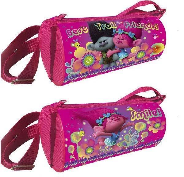 Сумка для девочки Тролли, 12*22*12 см, полиэстер 600 ден, Centrum, Детские сумки  - купить со скидкой