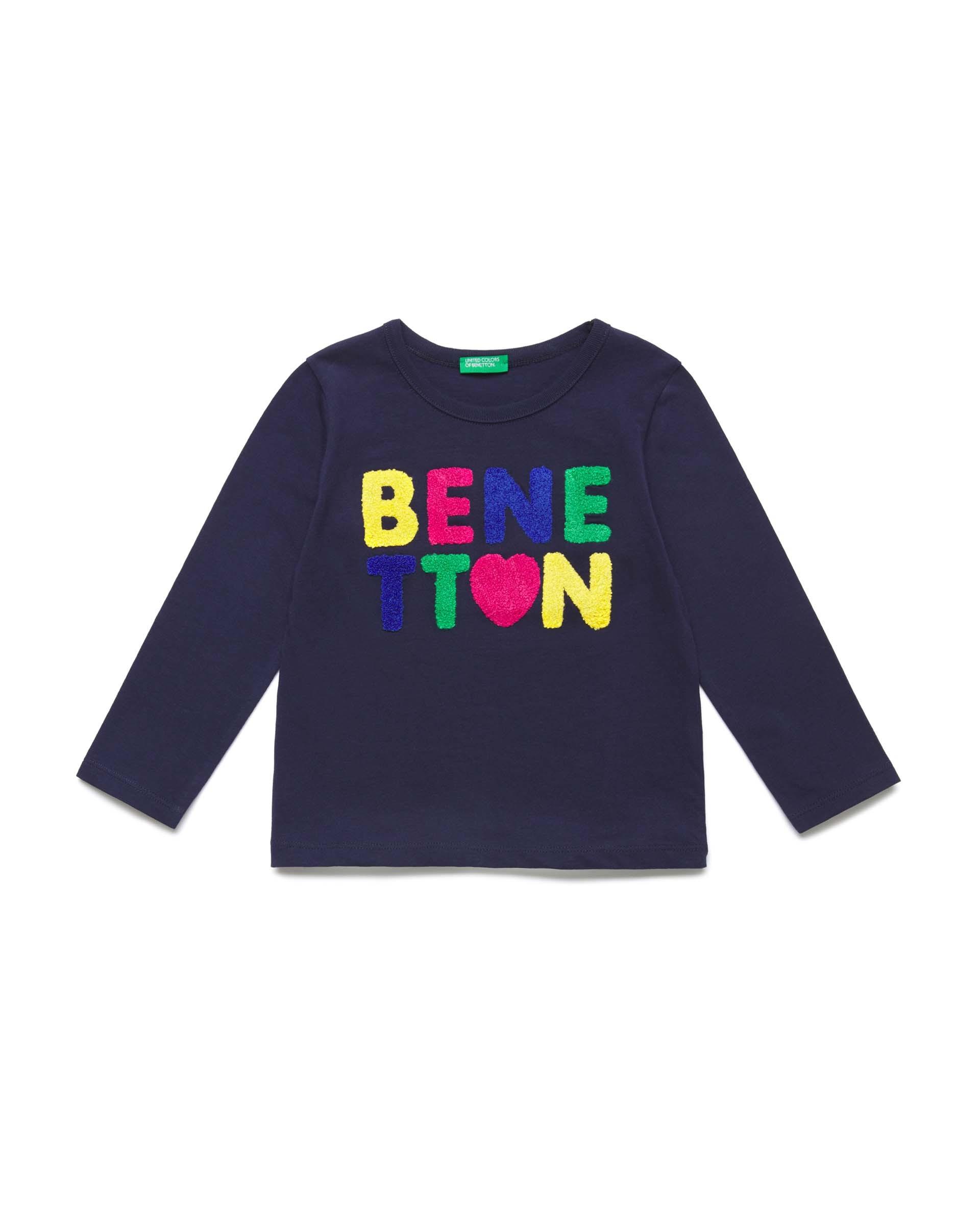 Купить 20P_3096C1AKP_252, Футболка для девочек Benetton 3096C1AKP_252 р-р 80, United Colors of Benetton, Кофточки, футболки для новорожденных