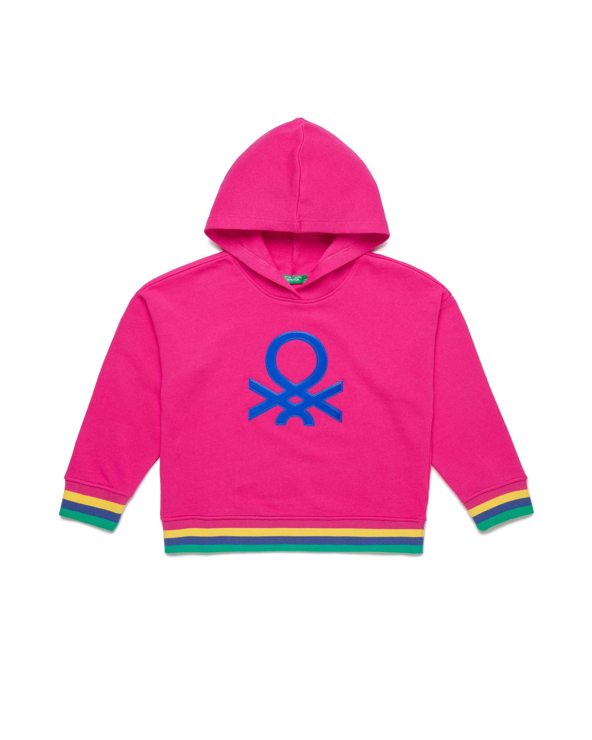 Купить 20P_3J68C2175_2L3, Толстовка для девочек Benetton 3J68C2175_2L3 р-р 128, United Colors of Benetton, Толстовки для девочек