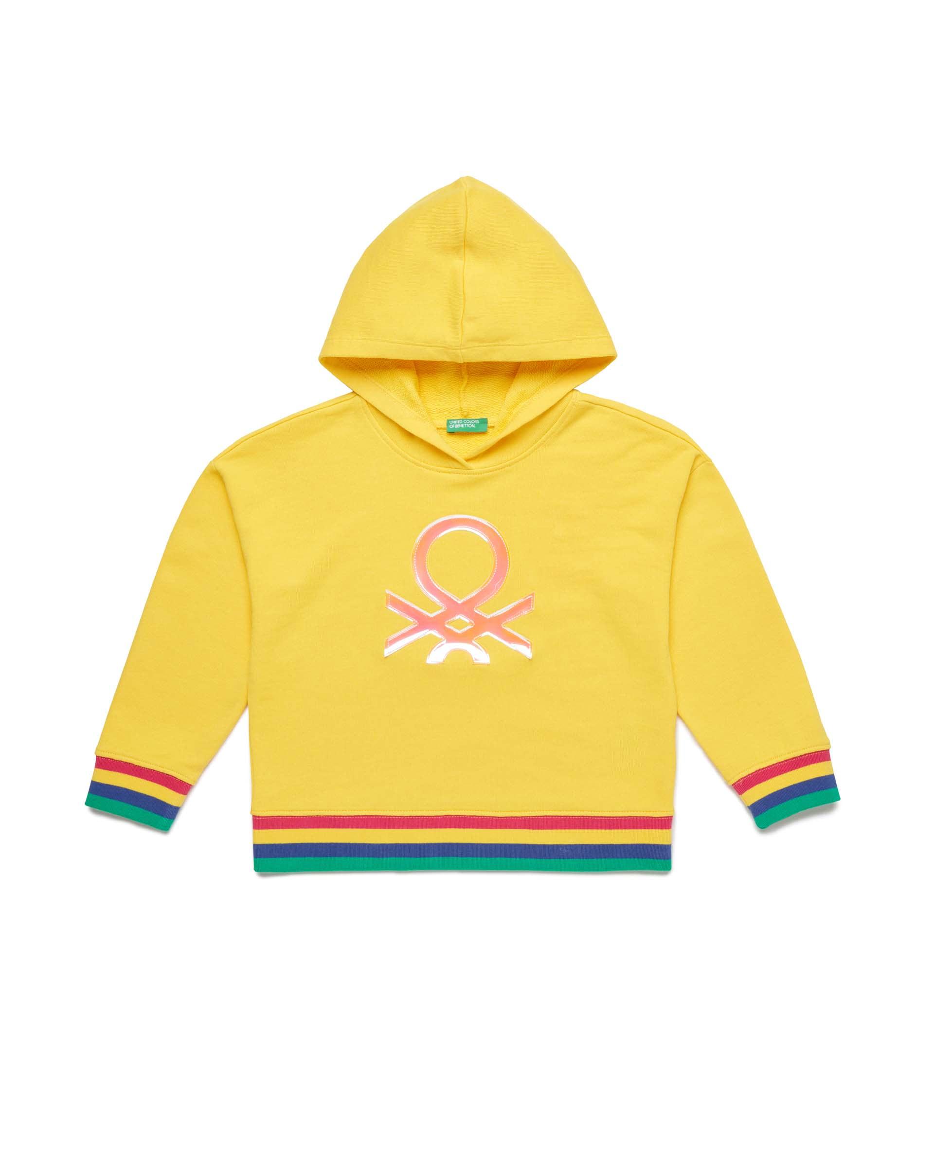 Купить 20P_3J68C2175_3N7, Толстовка для девочек Benetton 3J68C2175_3N7 р-р 104, United Colors of Benetton, Толстовки для девочек