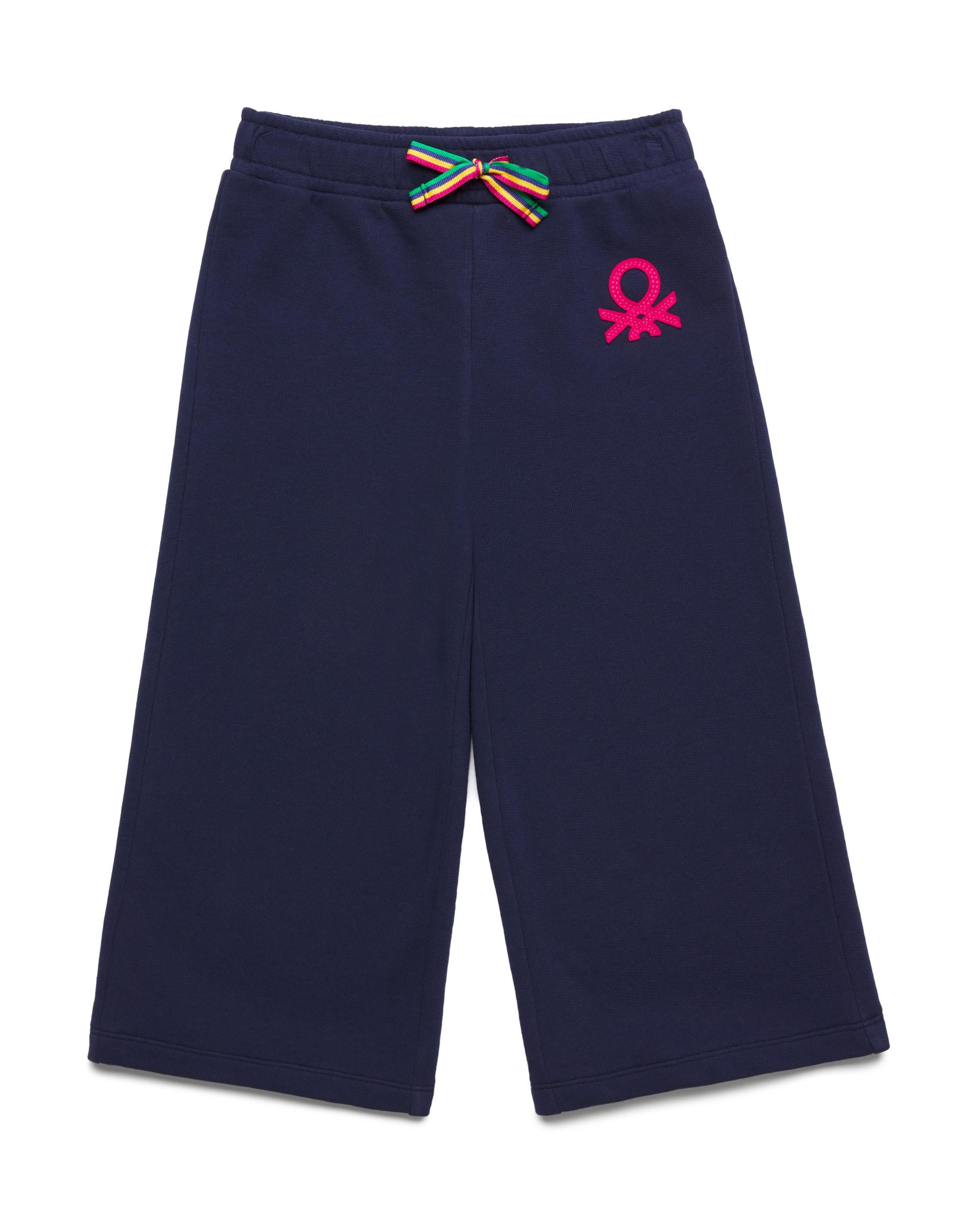 Купить 20P_3J68I0982_252, Спортивные брюки-кюлоты 3/4 для девочек Benetton 3J68I0982_252 р-р 128, United Colors of Benetton, Брюки для девочек