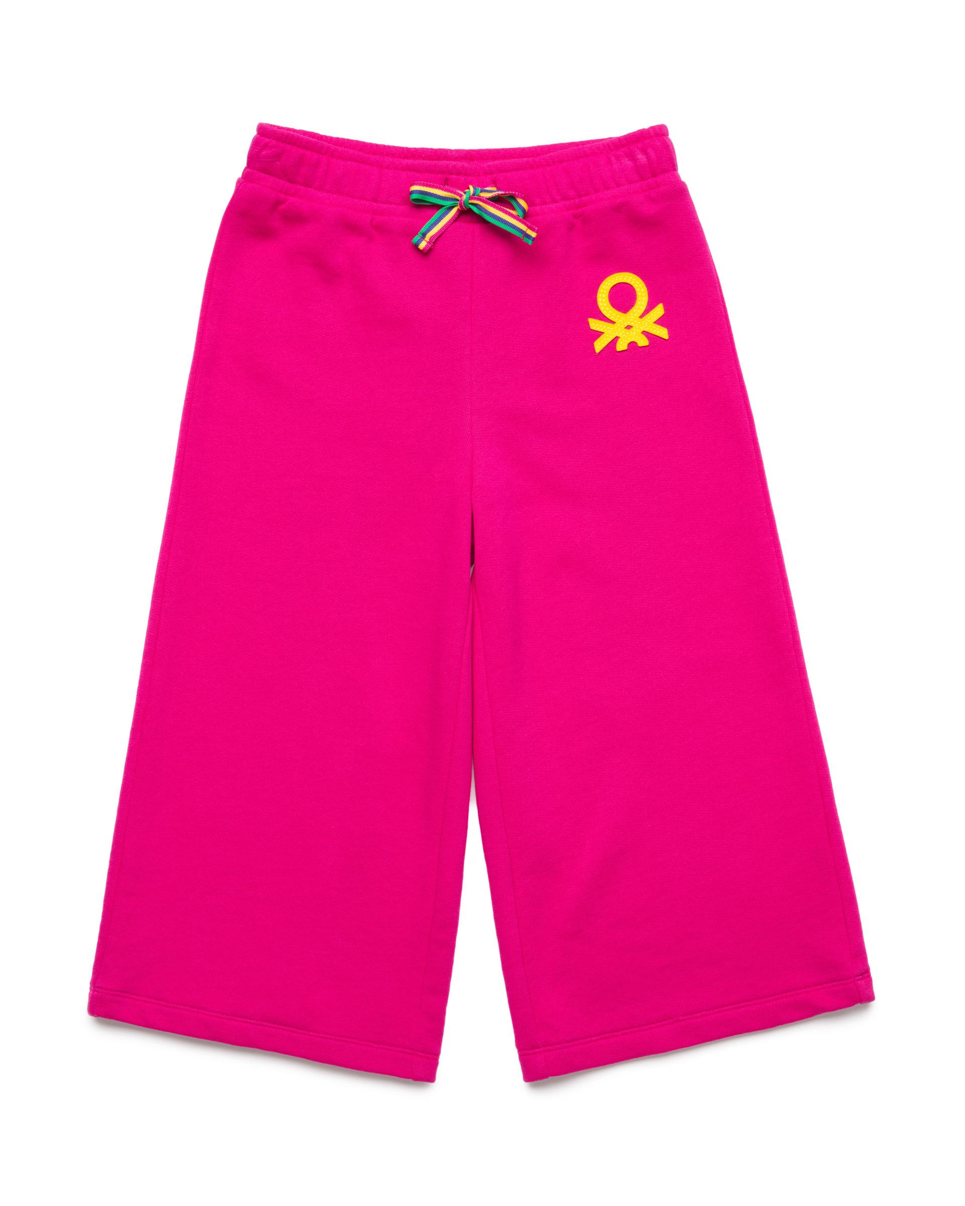 Купить 20P_3J68I0982_2L3, Спортивные брюки-кюлоты 3/4 для девочек Benetton 3J68I0982_2L3 р-р 80, United Colors of Benetton, Шорты и брюки для новорожденных