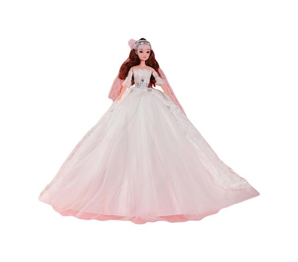 Купить Кукла на подставке Принцесса белое платье со шлейфом Sima-Land, Классические куклы