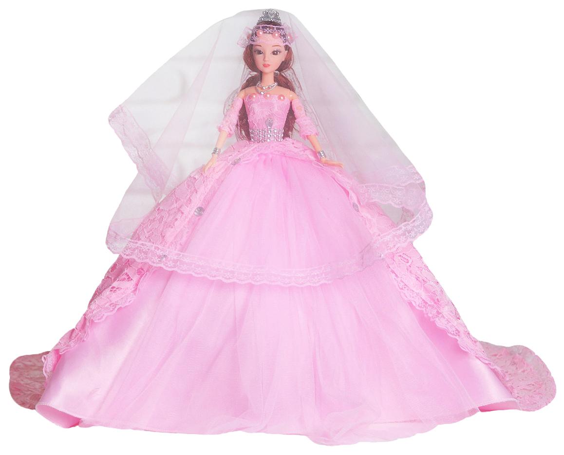 Купить Кукла на подставке Принцесса розовое платье со шлейфом Sima-Land, Классические куклы