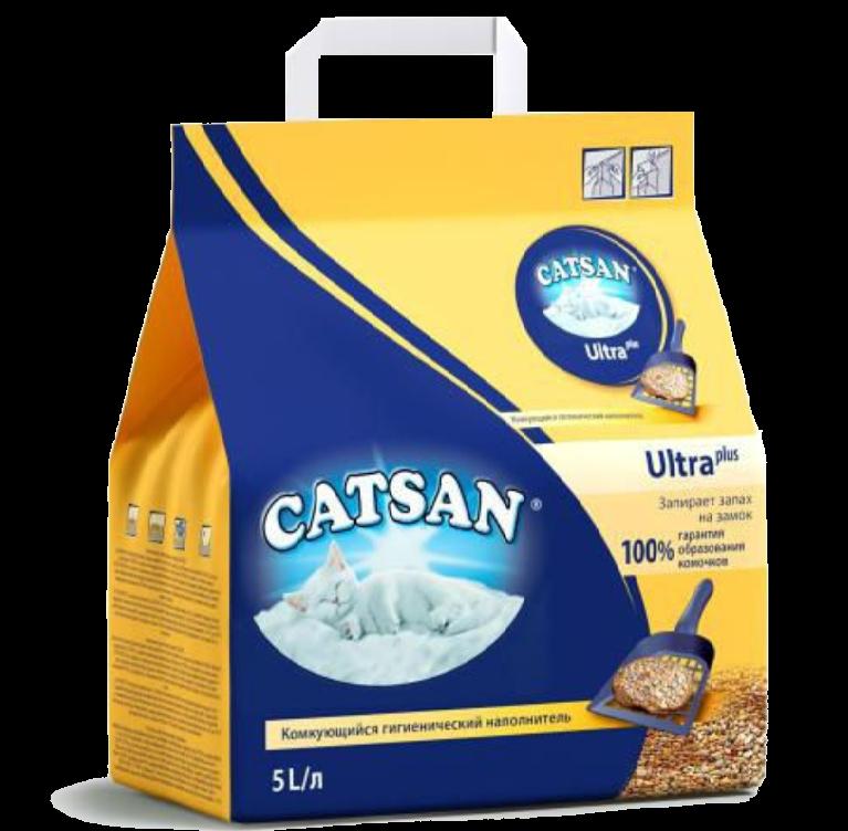 Комкующийся наполнитель для кошек Catsan Ultra глиняный 5.17 кг 5 л.
