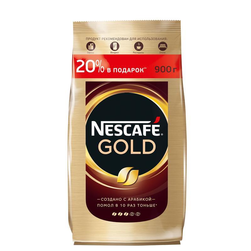 Кофе растворимый Nescafe gold пакет 900 г фото