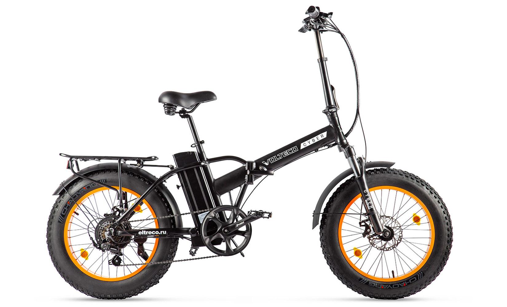 """Электровелосипед Volteco Cyber 2020 16"""" black/orange"""