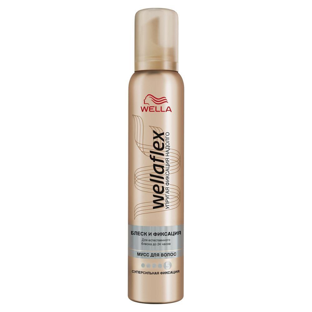 Мусс для укладки волос Wella Wellaflex Блеск
