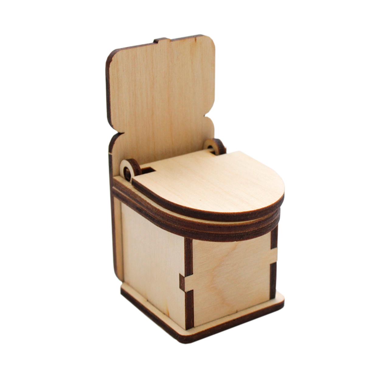 Купить L-543 деревянная заготовка Астра Туалет, 4х5х8 см, Рукоделие