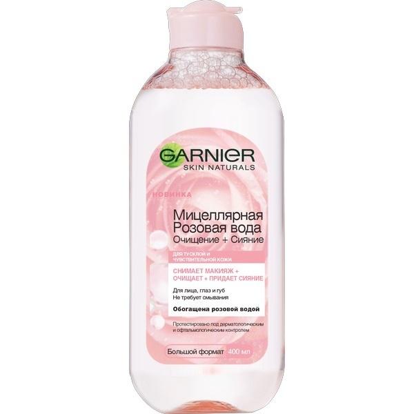 Купить Мицеллярная Розовая вода для сияния кожи Garnier 400 мл, мицеллярная Розовая вода для сияния кожи, 400 мл